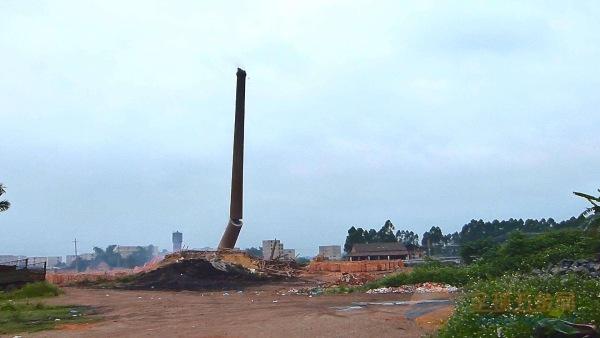 陆良县50米砼烟囱拆除公司厂家直供