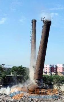 鹤岗50米砼烟囱拆除公司免费咨询报价