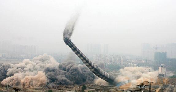 麒麟区50米砼烟囱拆除公司厂家直供