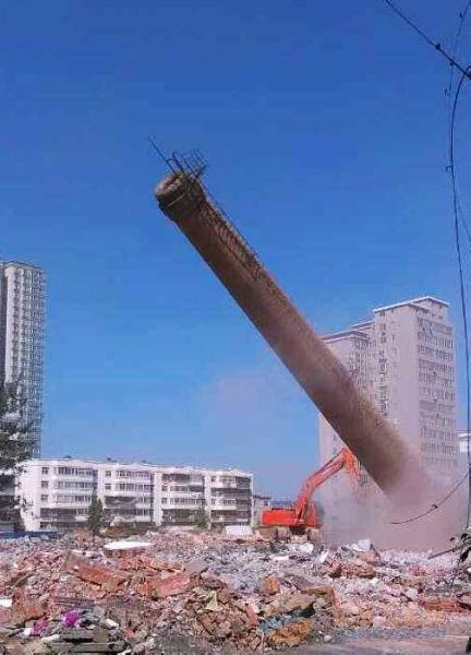 阜阳50米砼烟囱拆除公司厂家直供