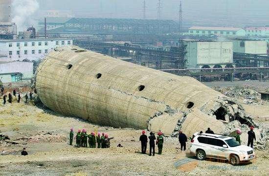 东川区50米砼烟囱拆除公司厂家直供