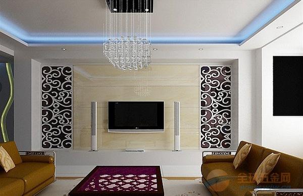 欧式镜面电视机背景墙铝合金镂空雕刻板生产厂家