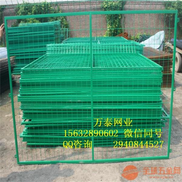 绿色围挡围栏 双边丝护栏 铁丝围栏