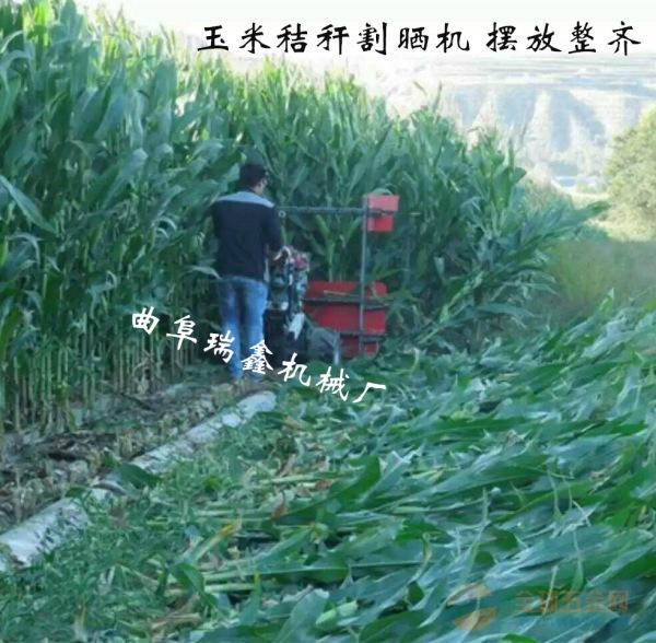 土默特右旗小型艾草甜叶菊收割玉米秸秆割倒机