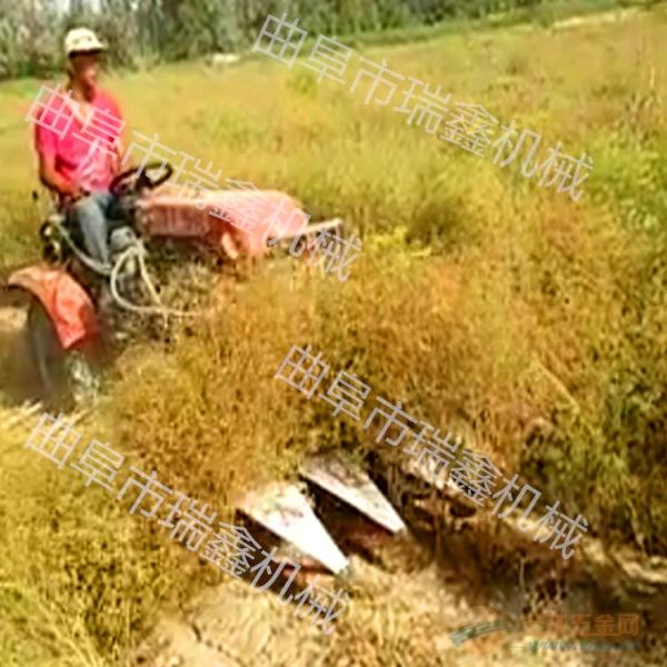 株洲养殖牧草收割机一边倒手扶收割机