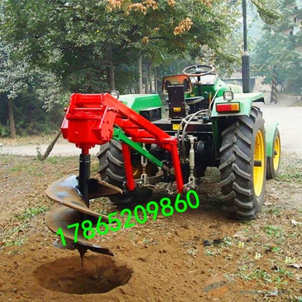 新疆果树施肥螺旋挖坑机