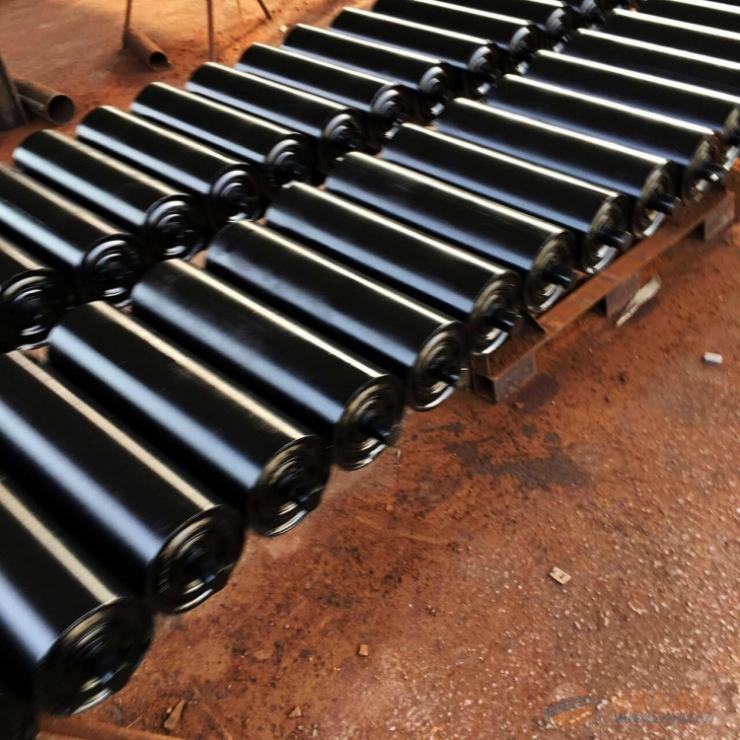 碳钢矿用平行托辊橡胶输送带配件