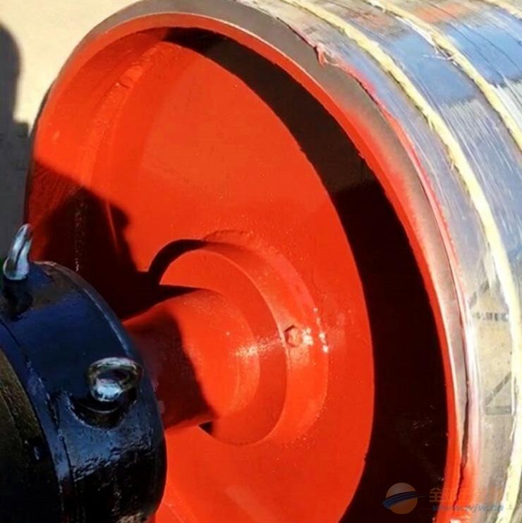 厂家直销 鑫昌鑫包胶滚筒碳钢无动力滚筒皮带输送机配件