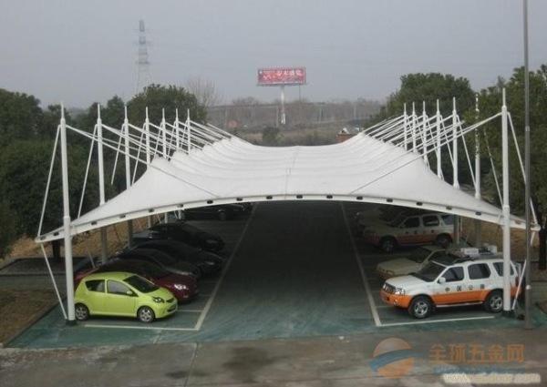 奥鼎膜结构车棚厂家定制双边大型膜结构停车场车棚