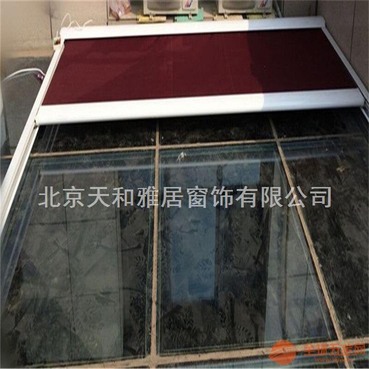 重庆定做阳光房天幕篷阳光房顶遮阳棚户外遮阳蓬电动轨道天幕棚