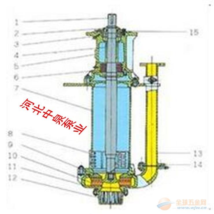 sp液下渣浆泵结构图 河北中泉泵业有限公司
