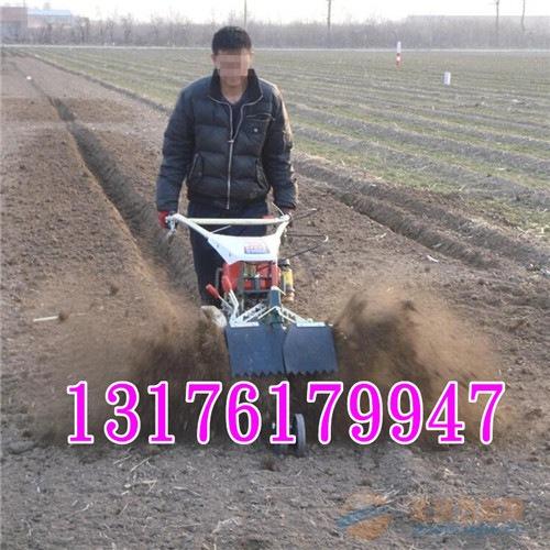开沟培土机 葱姜果树开沟松土机 柴油农用开沟机