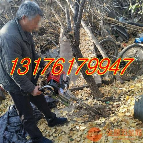 植树用低油耗挖树机 绿化移栽树木链条式挖树机