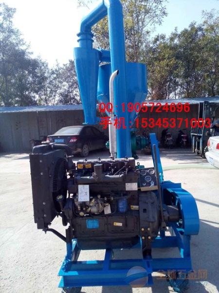 柴油机动力气力吸粮机 可移动式粮食入仓用抽料机