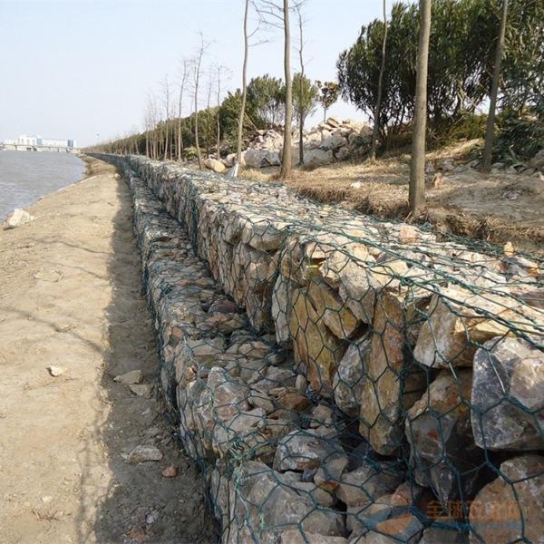 武汉锌铝合金格宾网 PVC包塑石笼网