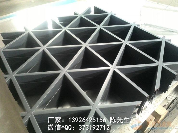供应金属吊顶幕墙隔断装饰铝格栅 方通 方管铝格栅图片