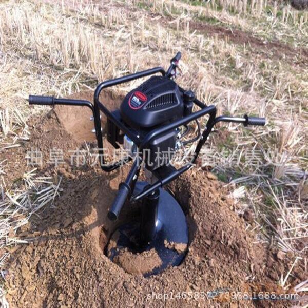 大马力旋转挖坑机 汽油钻坑机价格 优质螺旋打坑机