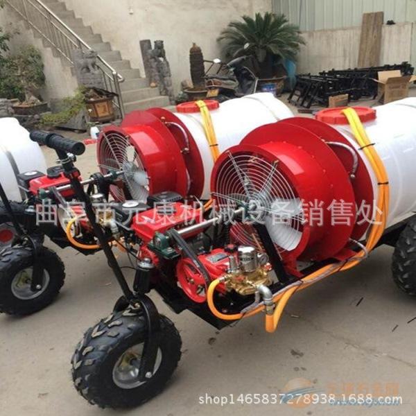 升级版自走式果园风送打药机 三轮自走喷雾器