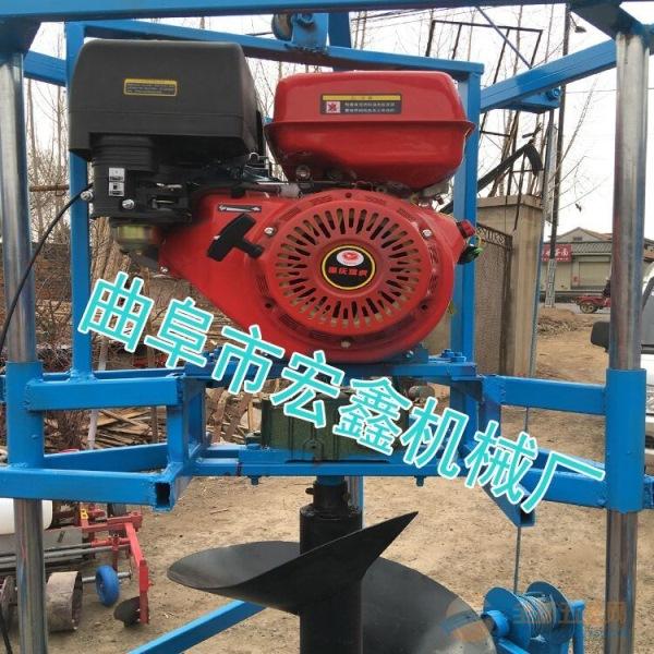 大马力地转加工打洞机 植树修建大棚打洞机 拖拉机坚固挖坑机