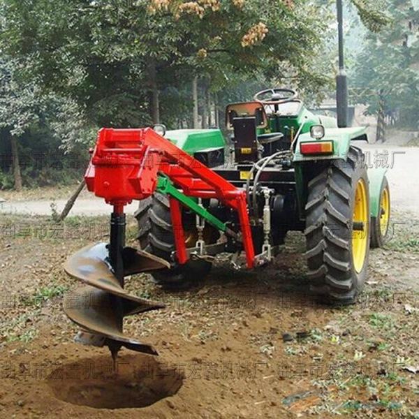 拖拉机地钻挖坑机 农用栽树挖坑机 林业打眼挖坑机