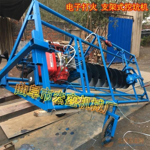 拖拉机带动后悬挂加长钻头 电线杆钻坑机 后悬挂式挖穴机
