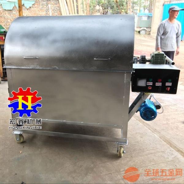 炒板栗机器 全自动电加热炒货机 电加热滚筒炒锅机