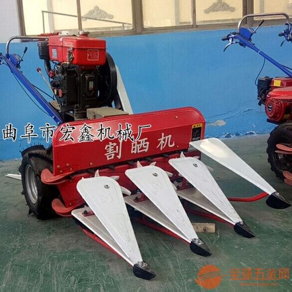 多功能农用割晒机 小型自走式稻麦收割机