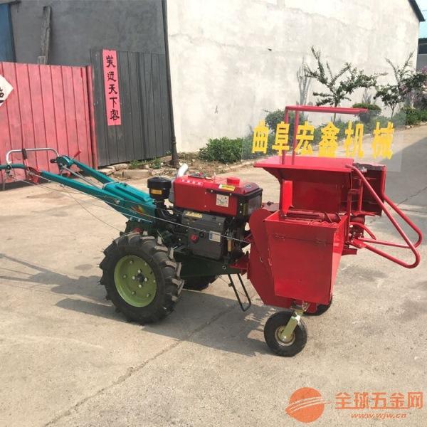 手扶自走式收玉米机价格 单行玉米收获机 玉米联合收割