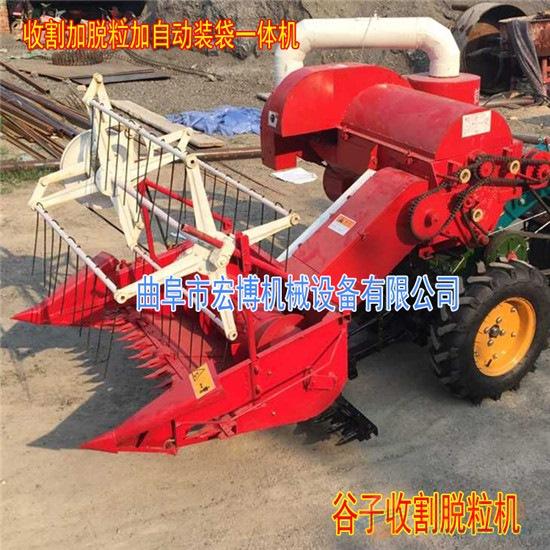 专业小麦联合收割机 直销手扶式谷物联合收割机?多功能脱粒机
