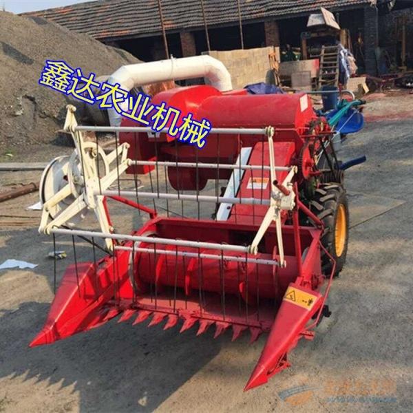 多功能自走联合麦子收割机 微型联合谷子水稻收获脱粒机