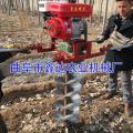 小型汽油动力植树挖坑机 小型挖坑种植机 小型地钻钻眼机