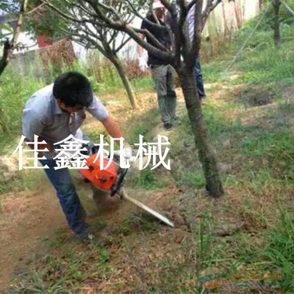 新龙县多功能苗圃园林挖树机断根切割土壤链条起树机
