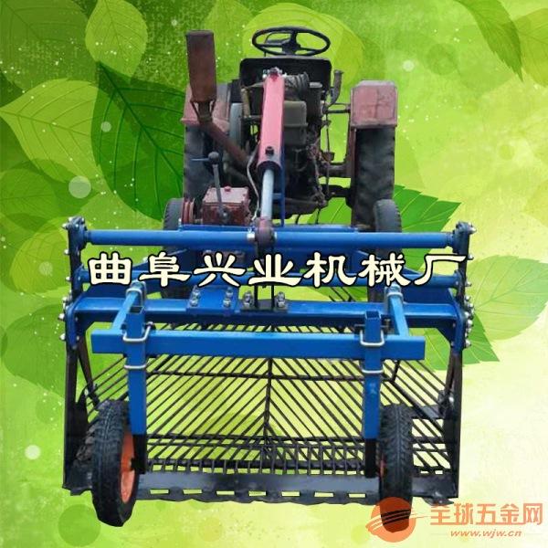 柴油8马力大蒜收获机