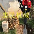 手提冻土刨树机 汽油挖树机 惠民链条式断根挖树机