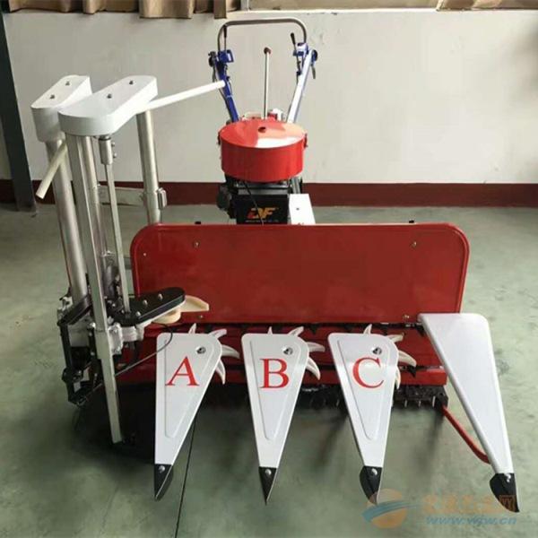 自贡四轮高杆作物割台生产加工山地丘陵稻麦割晒机