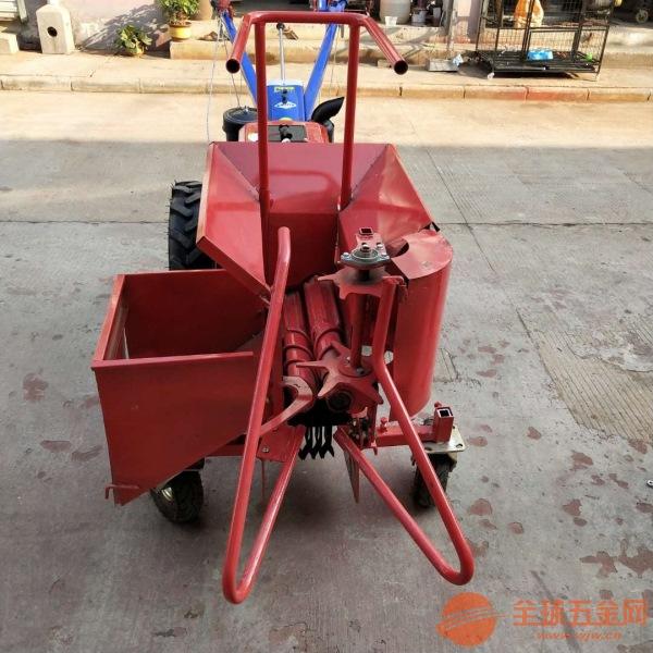 普兰店山坡地专用小型单行玉米收割机