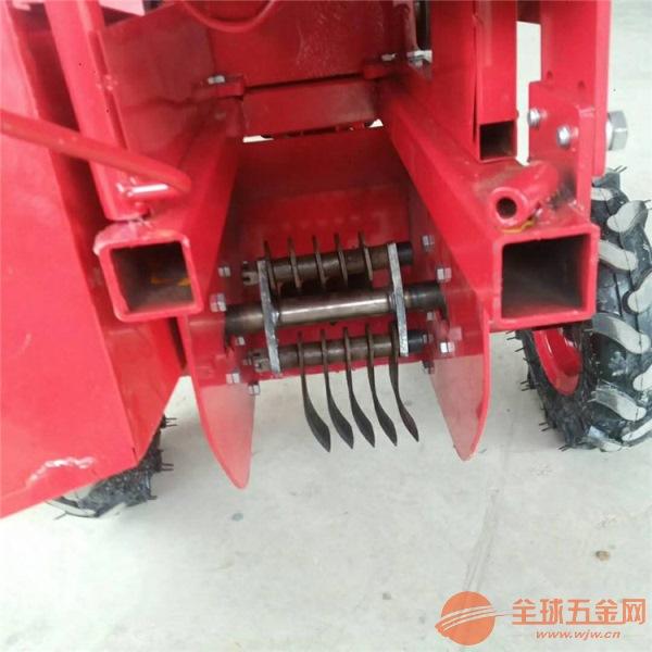 中山区操作灵活手扶拖拉机带动单垄玉米收获机