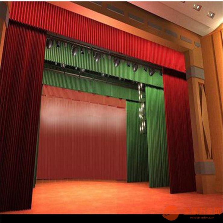 定做各种金丝绒舞台幕布电动舞台幕布会议室阻燃幕布