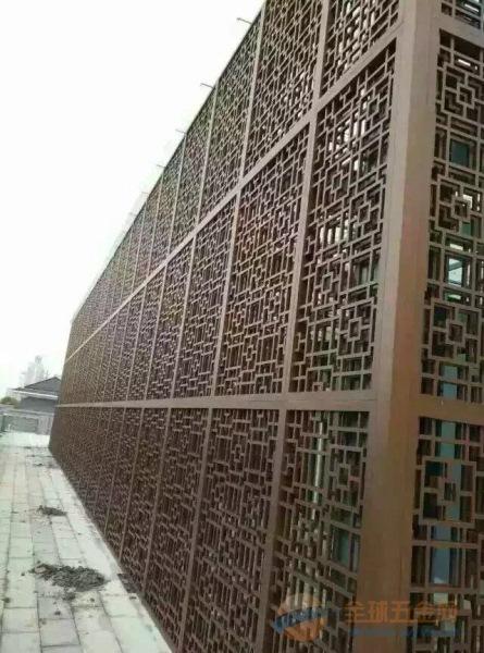 广东木纹铝窗花定制