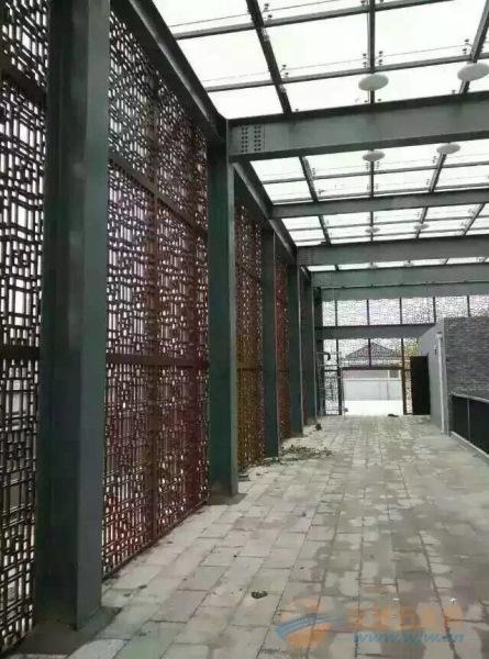 阜阳木纹铝窗花定制