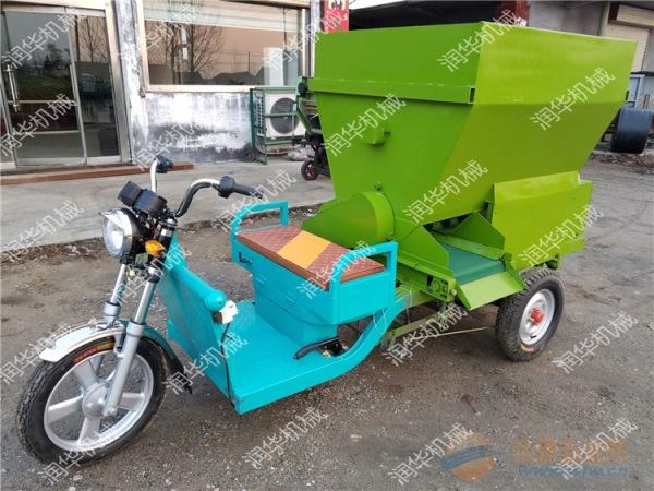 阳江厂家订做投喂车 养牛户流动撒料车