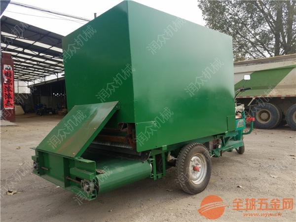 嫩江县减少劳动力喂牛撒料车自动青贮喂食撒料车