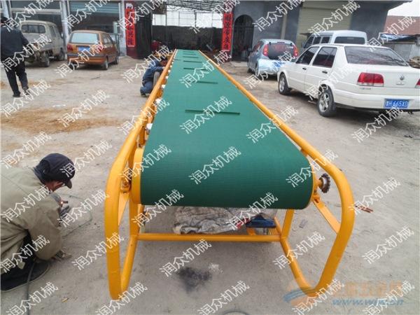 漯河防滑耐磨皮带输送机袋装豆子装车输送机