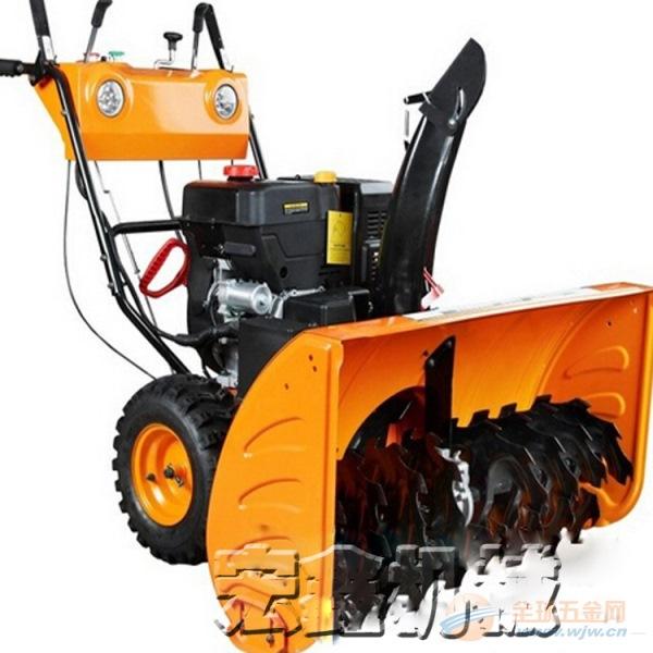 汽油扫雪机 环卫扫雪车 手推式自走式除雪机图片