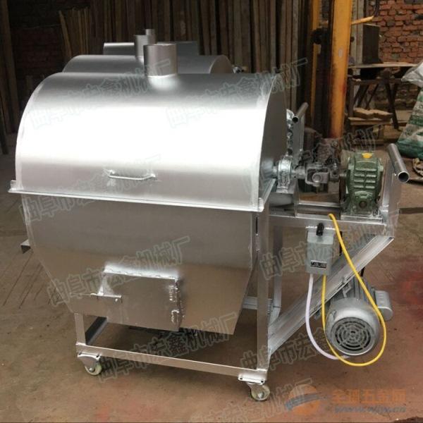 不锈钢滚筒式炒锅 大同 榨油滚筒炒货机图片