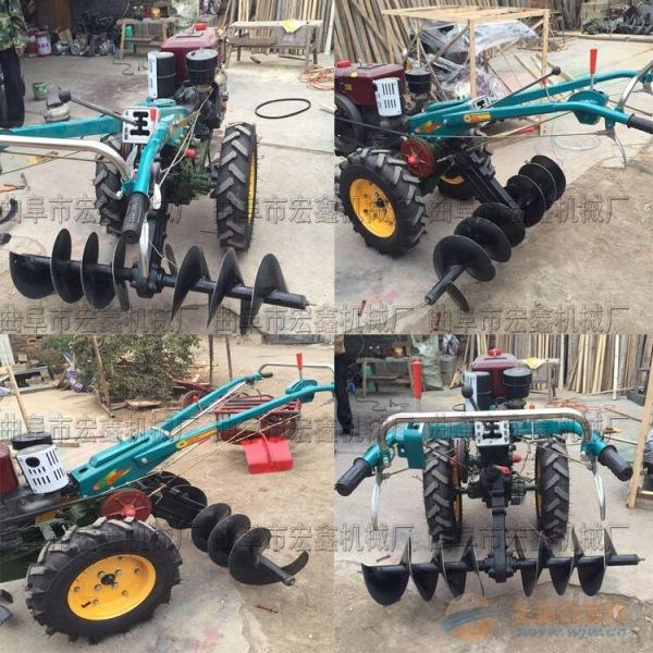 道孚县20马力电启动手扶拖拉机柴油多功能微耕机