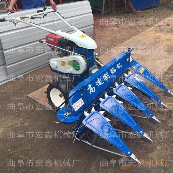 水稻收割机视频 金昌安泰供应多功能手扶式前置割台