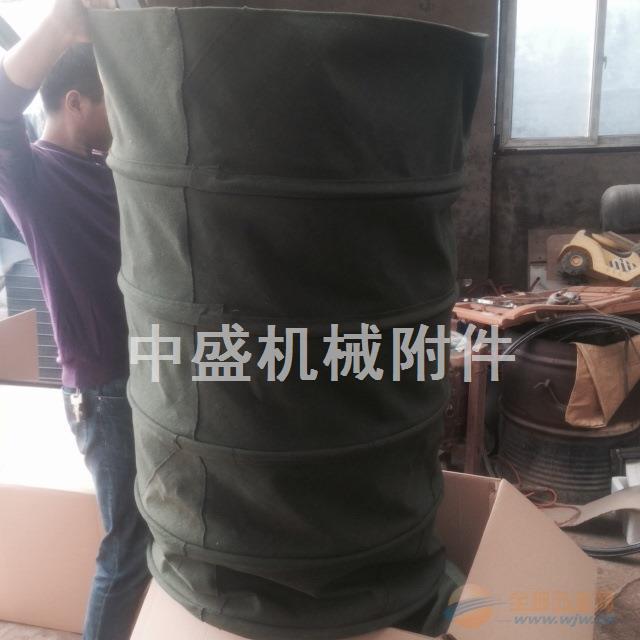 加厚耐磨绿帆布伸缩布袋生产厂家
