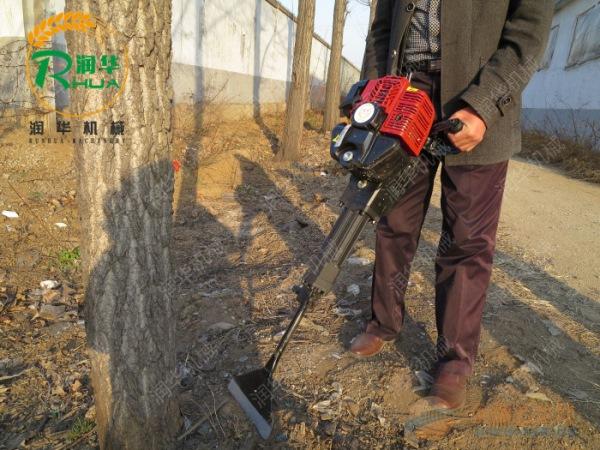 康保县手提式树苗种植机轻松移栽树木铲树机