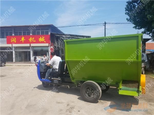 南京自动出料撒料车 柴油五立方撒料车
